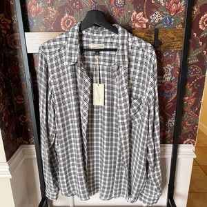 Plaid flannel like button down shirt from target